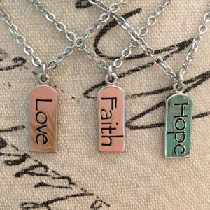 Jewelry - Faith Hope Love Charm Necklace